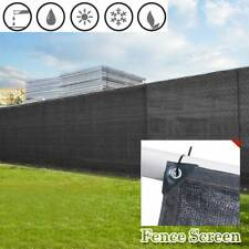 5' 6' 8' X50' Black Tall Fence Windscreen Privacy Screen Cover Fabric Mesh