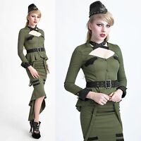 PUNK RAVE Uniform Jacke Oliv Military Jacket Olive Green GOTHIC JACKE