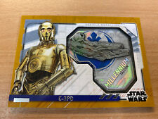 Star Wars The Rise Of Skywalker Series 2 C-3PO 06/10 Gold Medallion Card