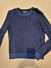 Banana Republic Nwot blue metallic leopard animal print sweater M