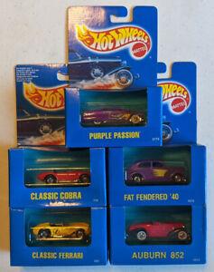 Hot Wheels Boxed mainline cars set of 5 - Classics - MIB
