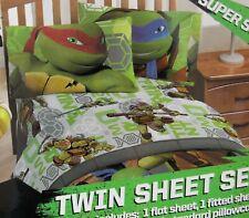 TMNT Teenage Mutant Ninja Turtle TWIN Sheet Set ~ NEW