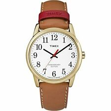 Timex Men's TW2R40100 Easy Reader 38mm Tan/White Leather Strap Watch