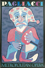Karel Appel, Pagliacci, Metropolian Opera, Offset Lithograph, signed in the plat