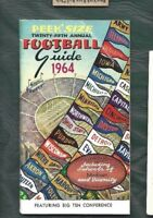 1964 Peek's Size football guide booklet