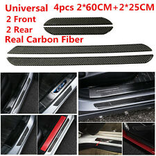 2*(60+25)CM Real Carbon Fiber Front Rear Car Scuff Plate Door Sill Cover Protect
