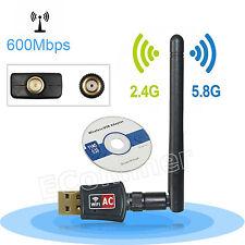 AC600M Dual Band USB Wifi Adapter Network LAN Dongle 2.4G 5.8G Windows XP 7 8 10