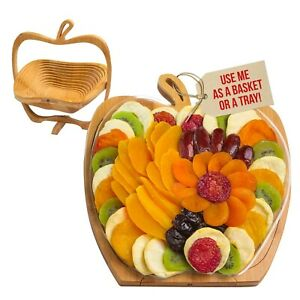 Mother's Day Gift | Dried Fruit Basket | Tray Turns into Basket | Gourmet Snack