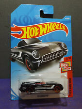 2018 Hot Wheels '55 CORVETTE, HW THEN & NOW Series 3/10. Long card.