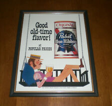 Pabst Blue Ribbon Beer Framed Color Ad Prints - Your Choice