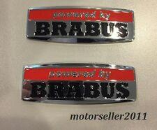 2pcs Aluminium Brabus Logo Decal Badge Sticker Emblem For C E S CL Class