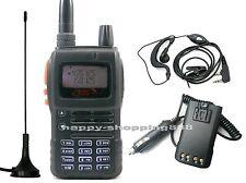 GS-7700USB Dual Band 2 Way Radio (136-174/400-520MHz)+Car Charger+Antenna GT450P