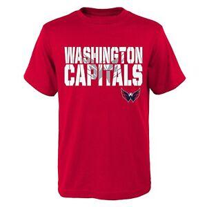 Washington Capitals NHL Youth Boys Team Logo Short Sleeve Red T-Shirts: M-XL