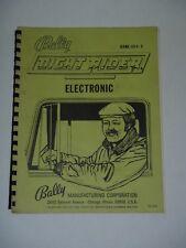 NIGHT RIDER ELECTRONIC PINBALL MACHINE MANUAL BALLY GAME 1074E  FO-532