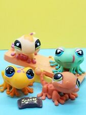 🎀 Littlest Pet Shop Lot of 4 #874 #1214 #326 #1365 Frog & Gecko AUTHENTIC LPS