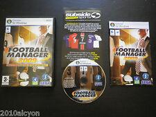 JEU PC / MAC DVD-ROM : FOOTBALL MANAGER 2009 (Sega COMPLET envoi suivi)
