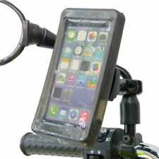 Phone Holder Scooter Moped Bike Mirror Mount & Rain Cover for Large Smartphones