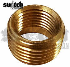 Brass Pipe Fitting 1/4 NPT Male to 1/8 NPT Female Reducer Face Bushing