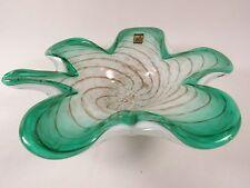 Italian FRATELLI TOSO Murano Italian Venetian CASTLE Art Glass Bowl
