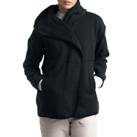 The North Face Womens Black Crescent Fleece Wrap Cardigan Sweater Size M $120