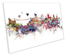 BRISTOL SKYLINE CANVAS WALL ART PICTURE LARGE 75 X 50 CM