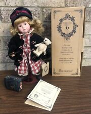 Boyds Bear Collection Yesterday's Child BRITTANY Doll #4803 Stand Bear Suitcase