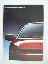 Toyota Programm - Starlett Corolla Carina Supra - Prospekt Brochure 09.1990