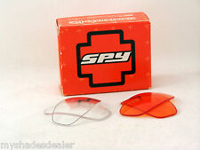 New Spy Optics Commando Kit 2 Pair ORANGE & CLEAR Lenses For MICRO 2 Sunglasses
