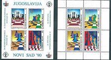 Yugoslavia, 1990, Chess Olympic 2 s/s blocks