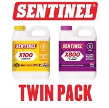 Sentinel INHIBIDOR DE X100 y X800 Ultimate limpiador de sistema de calefacción central Twinpack