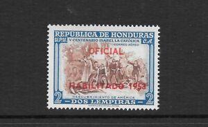 HONDURAS. 1953. AIR. OFFICIALS OPTD. 2L HIGH VALUE NEVER HINGED MINT. SG 521