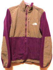 THE NORTH FACE WOMENS PURPLE / GRAY DENALI FLEECE JACKET SIZE-MEDIUM