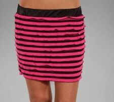 Polyester Hand-wash Only Striped Mini Skirts for Women