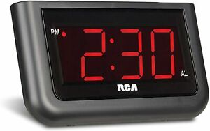 RCA RCD30 Alarm Clock with 1.4 inch Red Display
