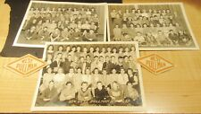 VINTAGE CHICAGO ELEMENTARY SCHOOL WEST PULLMAN CLASS PHOTOS 1940'S & PATCHES !!