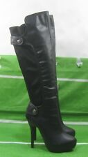 "new Black 5.5""Stiletto High Heel Sexy Slim Stretch Fit Knee Boots WOMEN Size 7"