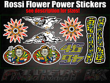 Valentino Rossi Flower Power Sticker Pack Valencia 46 The Doctor Moto GP Car Van