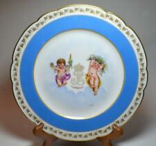 "Atq SEVRES France Chateau Des Secloud Louis Philippe Insignia CHERUBS 9""d Plate"
