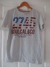 SOULCAL & CO Grey Red&Blue Logo Front Short Sleeve Crew Neck Tshirt M