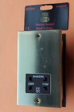 Sector SVR101B Polished York Brass Square Edge Frame Dual Voltage Shaver Socket