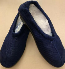 Spring Step Tender Stretch US Women 9-9.5 Blue Knit Slip-on Travel Shoes NEW