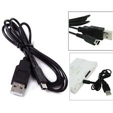 USB Charger Power Cable Cord Plug for Nintendo 3DS / DSi / DSi LL / XL Black HS1