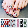 Nail Art Self Adhesive Full Toe Nails Stickers Geometric Waterproof Wraps Decals