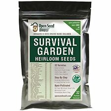 15,000 Vegetables Non GMO Heirloom Vegetable Seeds Survival Garden 32 Variety By