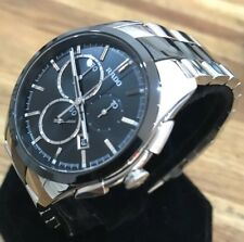 Men's Genuine Rado Hyperchrome Chronograph Black Ceramic Boxed Papers R32038152