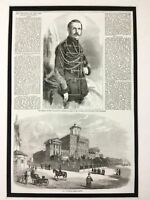 Russian Royalty Antique Print 1856 Royal Coronation Tsar Alexander II Romanov