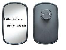 Außenspiegel passend für Baustellenkipper Kipper  260x155mm ø 12-23 mm Konvex