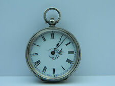 antico orologio da tasca  in argento funziona  silver pocket watch working