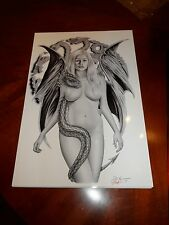 2015 WONDERCON SEXY MOTHER OF DRAGONS ART PRINT  SIGNED BY DON MONROE 13X19
