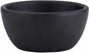 Rustic Round Bowl, Tiny, Cast Iron Black